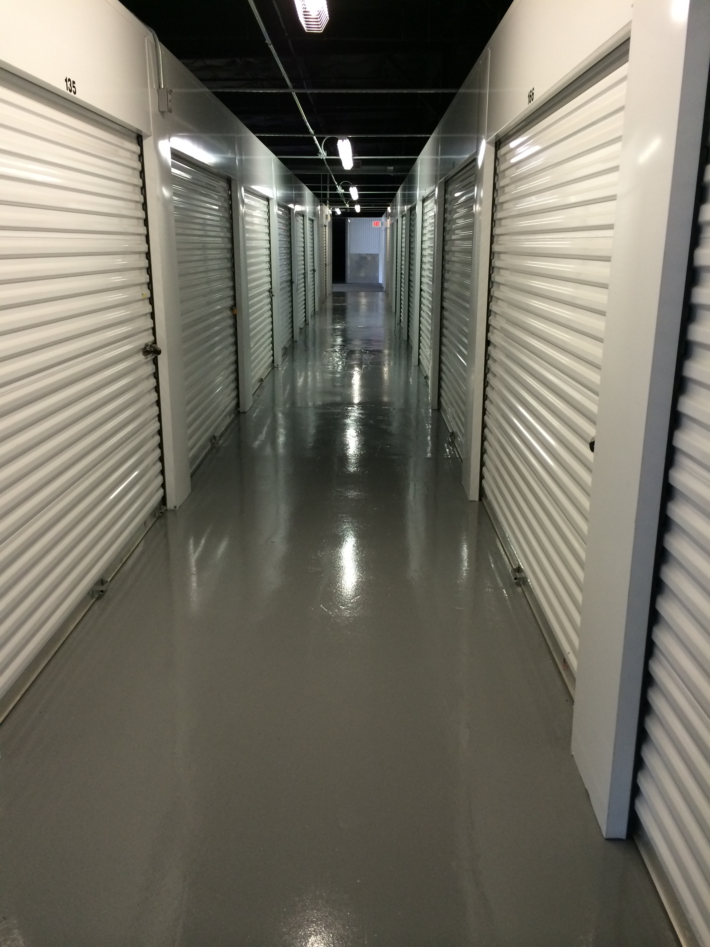Epoxy floor coatings storage facility