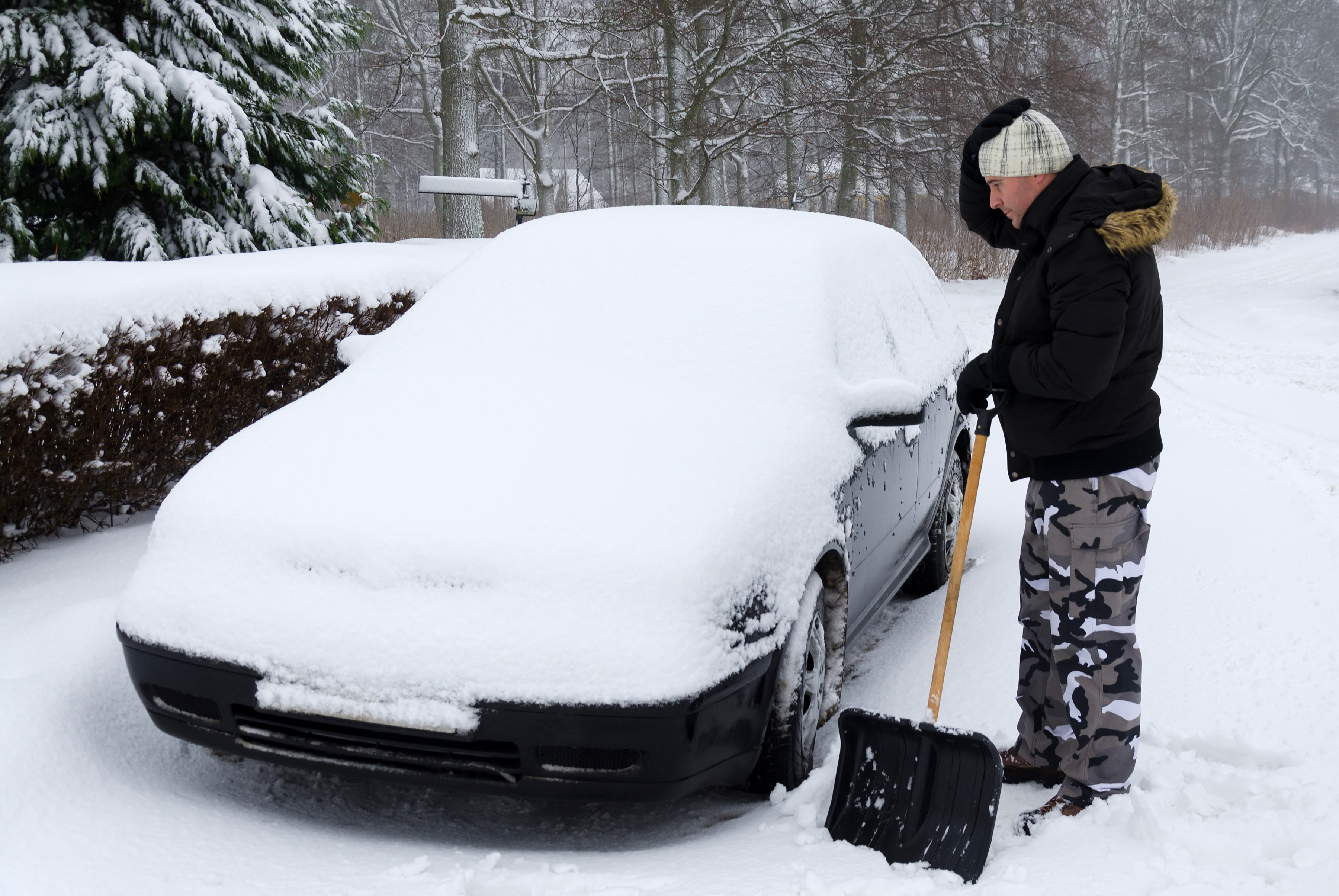is your garage ready for winter snowy car winterize your garage