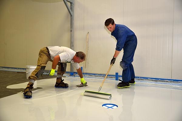 epoxy floor coating installation