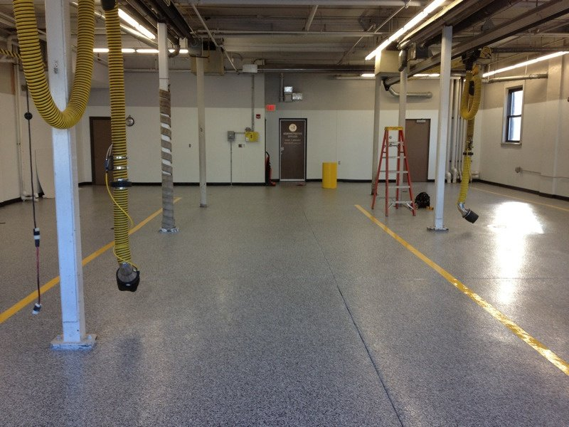 epoxy flooring fire station